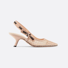2019 neue Mode Damen Sandalen Designer Sandalen Designer Heels Mesh Stoff Leder Material Originalkartongröße 35-42 von Fabrikanten