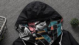 2019 homens florais do hoodie 2020 Designer Mens casacos dupla face impressão Windbreaker Zipper Hoodies Sports Marca Floral Coats Street Style alta qualidade B100017L homens florais do hoodie barato