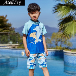 044e2073fb 2019 Summer Boys Swimsuits Bathing Suit Two Pieces Separates Rash Guards  Swimwear Baby Toddler Boy's Swimming Suit Children