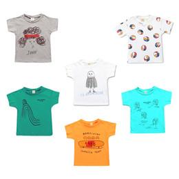 magliette occidentali Sconti T-shirt in cotone da bambino, manica corta, stampa cartoon, umidificazione, sport Western, girocollo, estate Unisex 50