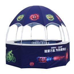 Carpas personalizadas online-Publicidad de promoción exterior de 3M x3M x 2.7M que dobla la carpa de cúpula personalizada de diez lados con impresión de logotipo personalizada y tableros de mesa completos
