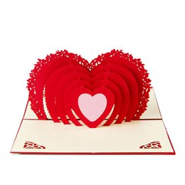 Carta di pop-up 3D fatta a mano Love Heart Anniversary Valentine Birthday Christmas- da farfalle di inviti fornitori