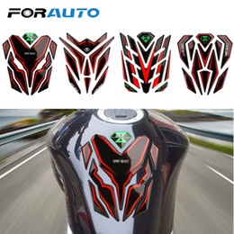 funny motorcycles Promo Codes - FORAUTO Motorcycle Stickers Gas Fuel Tank Pad Protector Rubber Motor Decals Funny Decoration Sticker Motorcycle Accessories