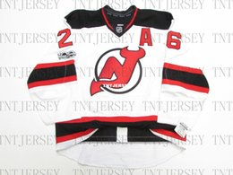 Cheap custom Patrik Elias NEW JERSEY DEVILS AWAY 100th ANNIVERSARY JERSEY  stitch add any number any name Mens Hockey Jersey XS-5XL a32ebf153