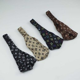 Diadema de seda de imitación con elástico de las señoras de la impresión Correa principal cruzada Diseñador de moda Headwraps 7 colores Whoelsale desde fabricantes