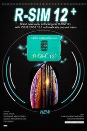 Orijinal RSIM12 + R-SIM 12+ Kart Kilidini Açmak IOS 12.2 / 3 Iphone XS X 7 8 Için ARTı iOS12.3 Otomatik Açılır Menü supplier sim card for unlocked iphone nereden unlocked iphone için sim kartı tedarikçiler
