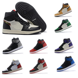 9abb00b01877 Hot sale 1 High OG NRG No L S Pack hot sale 861428-106 1S Sail  Black-Varsity Red Toes basketball shoes outdoor Athletic Shoes size7~12