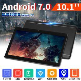 """2019 tabletas baratas al por mayor 10.1 """"64G Tablet PC Android 7.0 Octa Core 2GHz 10 pulgadas WIFI 2SIM 4G Phablet NF"""