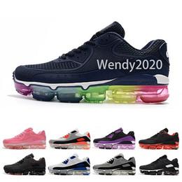 Nuevo 2019 90 para hombre zapatos corrientes del diseñador Mujeres entrenadores casuales deportes cojín de aire cómodo calidad superior barato senderismo zapatillas de deporte para correr desde fabricantes