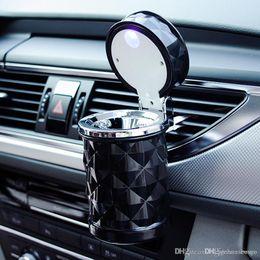 Portable Auto Accessories illuminated Ash Bin Car Ashtray Led Light Easy Clean