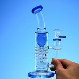 2019 barili verdi Torx Heady Glass Bong Showerhead rovesciato Cricchetto Perc Barrel Percolator Bong Blue Green Oil Dab Rigs 14mm Joint Water Pipes con ciotola sconti barili verdi