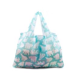Canada Sacs de magasinage réutilisables pliants portables pour le stockage des sacs d'épicerie écologiques Oxford chiffon grand sac poignée pliable Resuable # 110963 cheap eco friendly reusable folding bag Offre