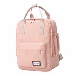 small blue bowl Coupons - Harajuku Minimalist Waterproof Canvas Backpack Small Fresh Female On Korean College Student Travel Backpack Bag Tide Wind Y19051405