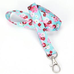 Nueva moda Boho Print Floral Cute Lanyard Llavero para llaves, credencial de identificación, tarjeta, teléfono celular, billetera desde fabricantes