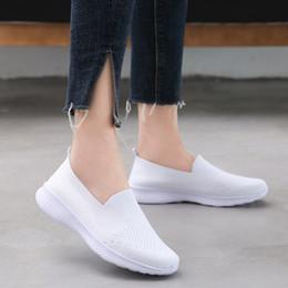 2019 zapatillas ligeras Air Mesh Mujer Zapatos Zapatillas de deporte de verano Zapatillas de deporte para mujer Zapatillas planas Mujer 2019 Ligero Corriendo para mujer Slip-on rebajas zapatillas ligeras