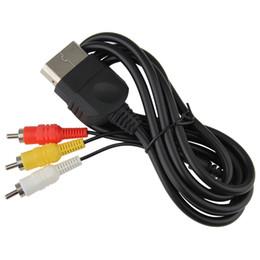 Venta caliente 6ft / 1.8m AV Audio Video Compuesto Cable Cable Adaptador Convertidor Conector Componente Cable RCA Para XBOX CLASSIC desde fabricantes