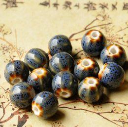Faça porcelana on-line-50 PCS Moda melancia Cerâmica Contas DIY Buraco Beads Handmade Porcelain Beads Para Colar Pulseira Jóias Fazendo