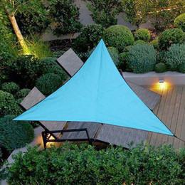 poly sonne Rabatt Dreieckige UV Sonnenschutz Segel Kombination Net 3/4 m Größe Im Freien Wasserdichte Dreieck Sonnensegel Zelt Camping Garten Sonnencreme Net Shelter
