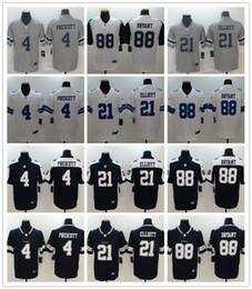 Argentina DallasDe los hombresCowboys 4 Dak Prescott 21 Ezequiel Elliott Jersey 88 BryantNFL jugador de Rush marino Blanco cosido jerseys de fútbol Suministro