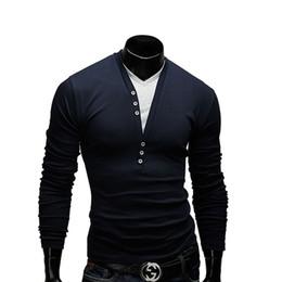 vestuário camisetas Desconto Clássico V Pescoço Tshirt Homens Largas T-Shirt de Manga Longa de Homens de Garment Superior Sem Forro de Manga Longa T-Shirt de Fitness Estrangeiro masculino