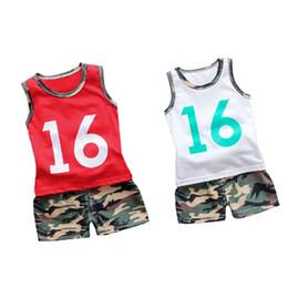 2019 костюм для мальчиков Одежда для малышей для мальчиков Камуфляжная футболка Жилет Топы Шорты Брюки Army Kids Спортивный костюм Спортивные костюмы для мальчиков Одежда 1 2 3 4 5 лет дешево костюм для мальчиков