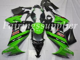kit de carreras gsxr Rebajas OEM Calidad Nueva ABS Carenados Moldes de Inyección kits de Ajuste para Kawasaki Ninja ZX-10R 2008 2009 2010 ZX-10R 08 09 10 Carrocería establece Verde y Negro