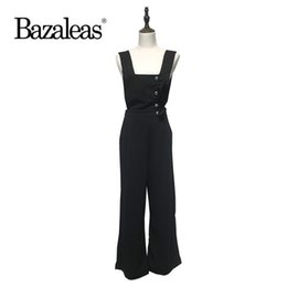 dfd54716998 Bazaleas Nice Ruffles Buttons Decorate Rompers Women Jumpsuit Fashion Chic  Streetwear Bodysuit Sleeveless Casual Playsuit