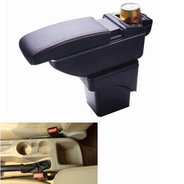 Consolas para braço de carro on-line-Banco nos EUA Car Center Console Armrest Storage Box para Ford Focus 2007 2008 2009 2010 2011 2012 2013 2014