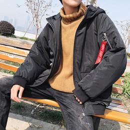2018 Marca Inverno Cappotto uomini casual Hoodie in cotone con cappuccio  Parka Uomo nero Abbigliamento Giacca invernale Oversize Parka f57612e0f57