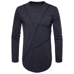 Novos manga longa camiseta on-line-Novo Design de Moda de Manga Comprida T-shirt dos homens Casual Tshirt para Homens na Primavera de 2019