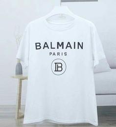 Argentina 2019 Nuevas camisetas de Balmain Llegada Famoso lujo Francia Marca Balmain Factory Modelo de moda Skinny Hole para mujeres hombres cheap brand t shirt factory Suministro