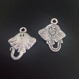 Stachelrochen online-100 stücke Charme STINGRAY Unterwasser Kreaturen Tibetischen Silber Perlen Anhänger Für DIY Schmuck Handwerk Armband Halskette Erkenntnisse 15 * 20mm