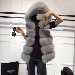 pelliccia di volpe nera Sconti Gilet in pelliccia sintetica nera rosa  Cappotto invernale donna Casual con a5282f4373c6