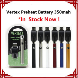 cigarettes cartridges Coupons - Vertex CO2 VV Preheat Battery 350mAh Preheating Battery Charger Kit E Cigarettes Vape Pen 510 thread for Wax Oil Cartridge Vaporizer