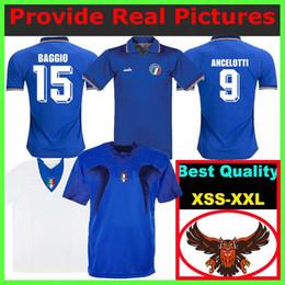 pirlo jersey italy Desconto Pirlo Inzaghi Homens 1990 Itália Retro Jersey 2006 Totti Del Piero BAGGIO 15 BARESI 2 ANCELOTTI 9 MALDINI 7 DONADONI 17 Casa Fora