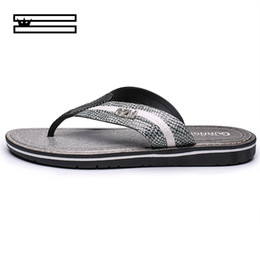 crust shoes Coupons - SHUANGGUN New Men Slippers Summer Thick Crust Men Sandals Non Slip Beach Shoes Male Tide Dragged Word Slippers Size 40~44