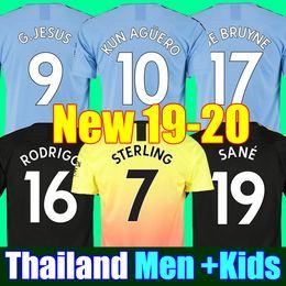 camisetas de fútbol hombre ciudad Rebajas Tailandia RODRIGO 19 20 MANCHESTER CITY camiseta de fútbol G.JESUS DE BRUYNE KUN AGUERO camisetas 2019 2020 camiseta de fútbol KIT camiseta de KIT de adultos y niños