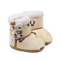 Winter Side Schuhe Warmer Boots Pinguin Baby Tie Boot Weiche Druck Schlauch Schneeflocke Cotton qSUMVzp