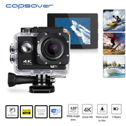 filmadoras para acções desportivas Desconto Capsaver 4 K HD 1080 P Câmera de Vídeo Esporte DV WI-FI À Prova D 'Água Camcorder DVR Cam Controle Remoto DV Wide Angle Vídeo Ação Recoder