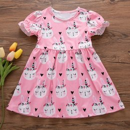 5e6033ba3e3a 2019 New Sweet Cute Little Princess Short Sleeve Toddler Kids Baby Girl  Summer Easter Bunny Princess Dress Clothes Outfits discount wholesale baby  easter ...