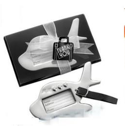 Etiquetas para la boda online-Astilla de metal Etiquetas de los aviones Destino Amor Crucero Etiqueta de equipaje en forma de favor de la boda Suministros de regalo Venta caliente 6bl BB