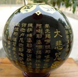 Хрустальный шар черный онлайн-Crystal 0321 Натуральный Черный Обсидиановый Сфера Большой Хрустальный Шар Исцеляющий Камень + подставка 100 мм