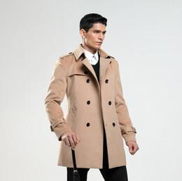 2019 мужская весенняя длинная шерсть Англия повседневная шерстяное пальто мужчины пальто с длинными рукавами пальто Мужские кашемировые пальто casaco masculino Англия весна осень дешево мужская весенняя длинная шерсть