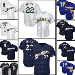Бейсбольный свитер milwaukee онлайн-Колорадо 28 Нолан Arenado Скалистых гор Джерси Milwaukee 22 Christian Yelich пивоваров 8 Райан Браун 7 Эрик Темзы Бейсбол 989dffd