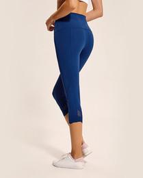Calças de ioga coloridas on-line-Lulu Calças da ioga para mulheres malha de cintura alta Align Pant ginásios leggings coloridas altas elásticas novas crossfit menina calças 19013
