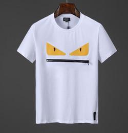 2019 saco de algodão dos homens fendi NOVA Marcas de Verão Homens 3D FF ROMA Impresso T-Shirt Bag Bugs Mangas Curtas Top Man 100% algodão mulheres estrela t-shirt F07 mens tee saco de algodão dos homens barato