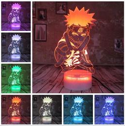 luzes noturnas para adultos Desconto Japão Anime Naruto figura legal Adulto 7 cores inteligentes Alterar Night Light Quarto dos meninos tabela da decoração para crianças Crianças Adolescentes Babys Brinquedos do Natal Presentes