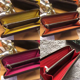 geldbörse zur notiz Rabatt 2019 Top-Qualität original Leder Classic Designer Brieftasche Mode Leder lange Geldbörse Geldbeutel Reißverschlusstasche Münztasche Hinweis Designer Kupplung