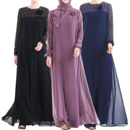 модели абаи Скидка Abaya Muslim Women Chiffon Long Dress Turkey Lace Patchwork Dubai Robe Ethnic Style Islamic Gown Bow Fashion Middle East Kimono