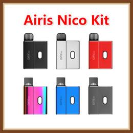 Размеры аккумуляторов онлайн-Оригинальный комплект сигарет Airis Nico Kit E с аккумулятором 450 мАч Vv Vape Mod Многоразовый картридж для стручков с адаптером для стручков кокосовых размеров